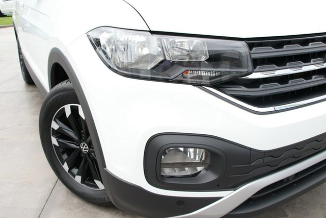 New Volkswagen T-Cross C1 MY21 85TSI DSG FWD Life Epsom, 2020 Volkswagen T-Cross C1 MY21 85TSI DSG FWD Life Pure White 7 Speed Sports Automatic Dual Clutch