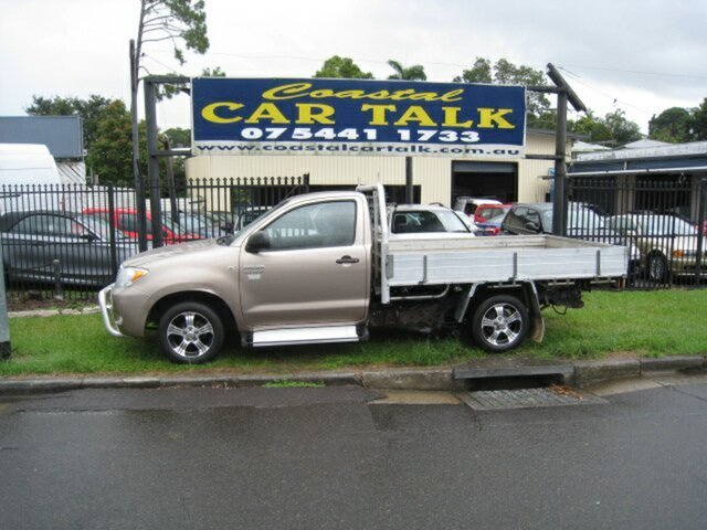 Used Toyota Hilux TGN16R 07 Upgrade Workmate Nambour, 2008 Toyota Hilux TGN16R 07 Upgrade Workmate Gold 5 Speed Manual Cab Chassis