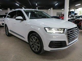 2016 Audi Q7 4M MY16 TDI Tiptronic Quattro White 8 Speed Sports Automatic Wagon.