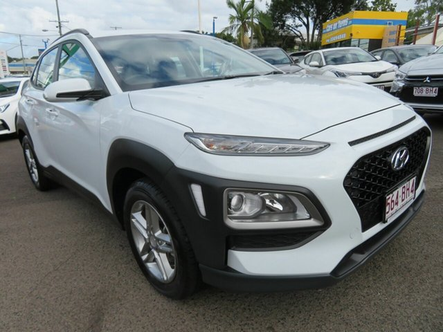 Used Hyundai Kona OS.2 MY19 Active 2WD Mount Gravatt, 2019 Hyundai Kona OS.2 MY19 Active 2WD White 6 Speed Sports Automatic Wagon