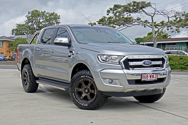 Used Ford Ranger PX MkII XLT Double Cab Capalaba, 2016 Ford Ranger PX MkII XLT Double Cab Silver 6 Speed Sports Automatic Utility