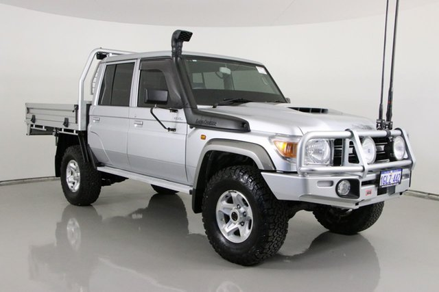 Used Toyota Landcruiser VDJ79R GXL (4x4) Bentley, 2018 Toyota Landcruiser VDJ79R GXL (4x4) Silver 5 Speed Manual Double Cab Chassis