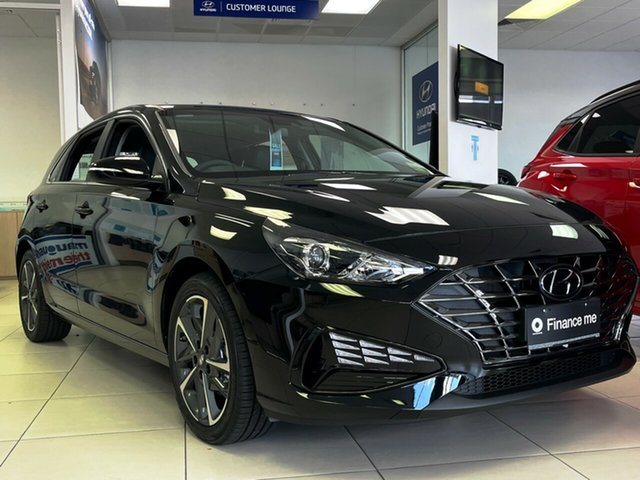 New Hyundai i30 PD.V4 MY21 Active Totness, 2020 Hyundai i30 PD.V4 MY21 Active Phantom Black 6 Speed Sports Automatic Hatchback