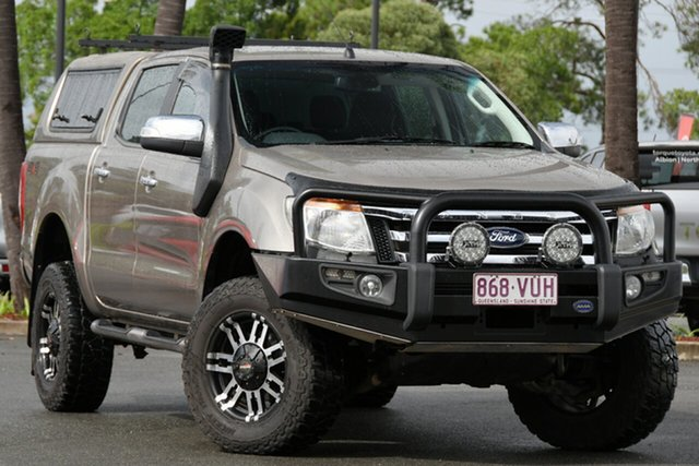 Used Ford Ranger PX XLT Double Cab North Lakes, 2015 Ford Ranger PX XLT Double Cab Gold 6 Speed Sports Automatic Utility