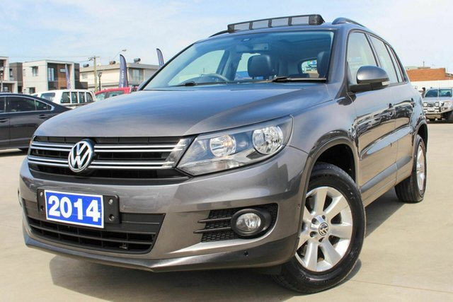 Used Volkswagen Tiguan 5N MY14 132TSI DSG 4MOTION Pacific Coburg North, 2014 Volkswagen Tiguan 5N MY14 132TSI DSG 4MOTION Pacific Grey 7 Speed Sports Automatic Dual Clutch