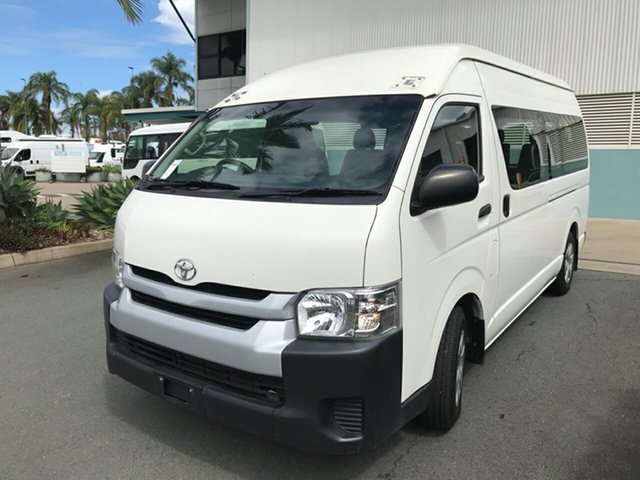 Used Toyota HiAce TRH223R Commuter High Roof Super LWB Acacia Ridge, 2017 Toyota HiAce TRH223R Commuter High Roof Super LWB White 6 speed Automatic Bus