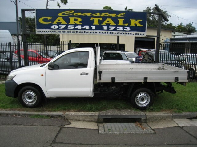 Used Toyota Hilux 150 Workmate Nambour, 2012 Toyota Hilux 150 Workmate White 5 Speed Manual Cab Chassis