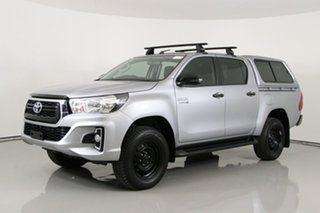 2018 Toyota Hilux GUN126R MY19 SR (4x4) Silver 6 Speed Manual Double Cab Pick Up.