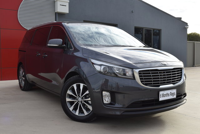 Used Kia Carnival YP MY16 SLi Echuca, 2015 Kia Carnival YP MY16 SLi Graphite 6 Speed Sports Automatic Wagon