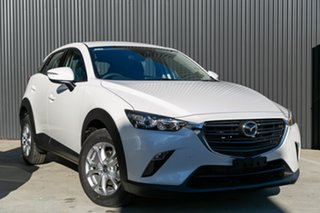2021 Mazda CX-3 CX-3 F 6AUTO MAXX SPORT PETROL FWD Snowflake White Pearl Wagon.