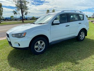 2010 Mitsubishi Outlander ZH MY10 LS White 6 Speed Constant Variable Wagon