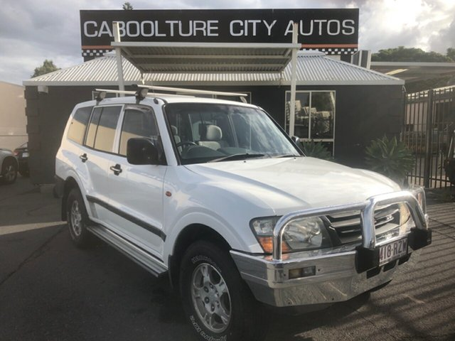 Used Mitsubishi Pajero NM GLX LWB (4x4) Morayfield, 2000 Mitsubishi Pajero NM GLX LWB (4x4) White 5 Speed Auto Sports Mode Wagon