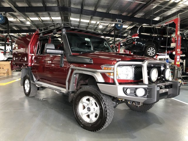 Pre-Owned Toyota Landcruiser VDJ79R GXL (4x4) Oakleigh, 2018 Toyota Landcruiser VDJ79R GXL (4x4) Merlot Red 5 Speed Manual Double Cab Chassis