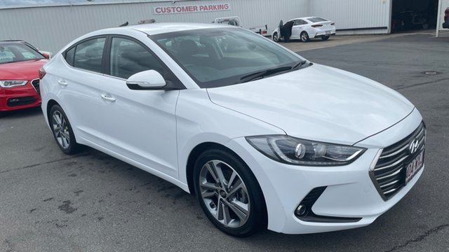 Used Hyundai Elantra AD MY17 Elite Moorooka, 2016 Hyundai Elantra AD MY17 Elite Ceramic White 6 Speed Sports Automatic Sedan