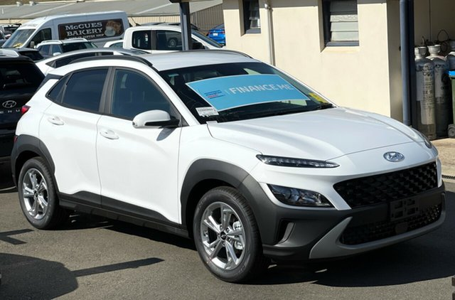 New Hyundai Kona Os.v4 MY21 Active 2WD Totness, 2021 Hyundai Kona Os.v4 MY21 Active 2WD Atlas White 8 Speed Constant Variable Wagon