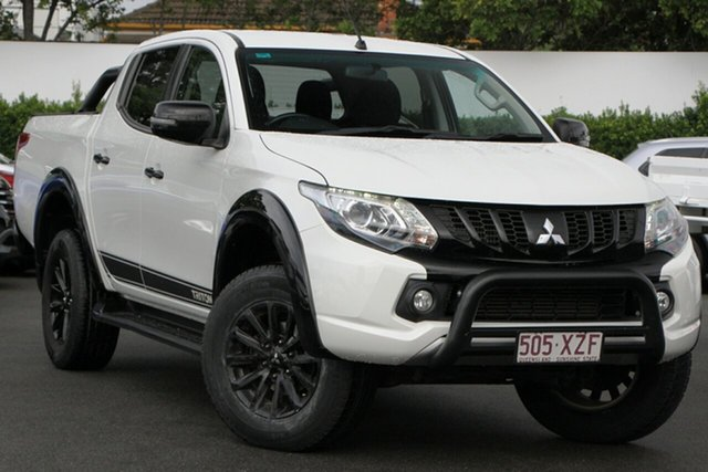 Used Mitsubishi Triton MQ MY18 Blackline Double Cab Mount Gravatt, 2018 Mitsubishi Triton MQ MY18 Blackline Double Cab White 5 Speed Sports Automatic Utility