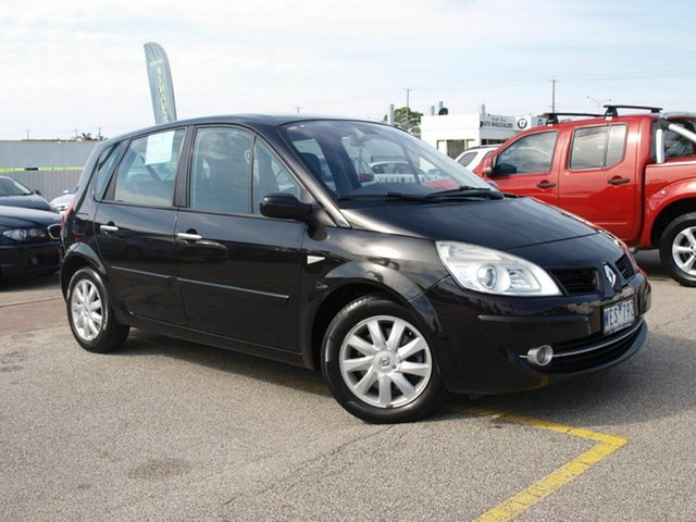 Used Renault Scenic II J84 Dynamique Cheltenham, 2006 Renault Scenic II J84 Dynamique Black 4 Speed Sports Automatic Hatchback