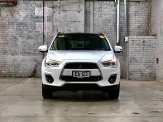 2013 Mitsubishi ASX XB MY13 Aspire 2WD White 6 Speed Constant Variable Wagon.