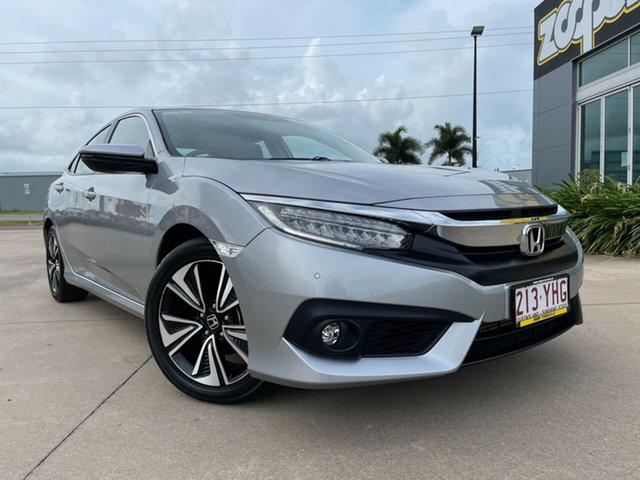 Used Honda Civic 10th Gen MY18 VTi-LX Townsville, 2018 Honda Civic 10th Gen MY18 VTi-LX Silver/170718 1 Speed Constant Variable Sedan
