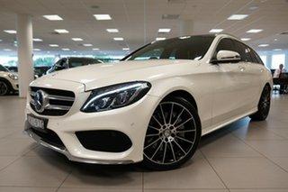 2016 Mercedes-Benz C250 205 MY16 Diamond White 7 Speed Automatic Wagon.