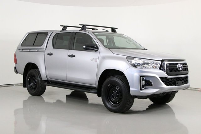 Used Toyota Hilux GUN126R MY19 SR (4x4) Bentley, 2018 Toyota Hilux GUN126R MY19 SR (4x4) Silver 6 Speed Manual Double Cab Pick Up