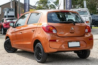 2016 Mitsubishi Mirage LA MY16 ES Brown 1 Speed Constant Variable Hatchback.