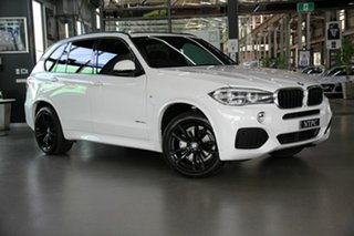 2018 BMW X5 F15 xDrive30d White 8 Speed Sports Automatic Wagon.