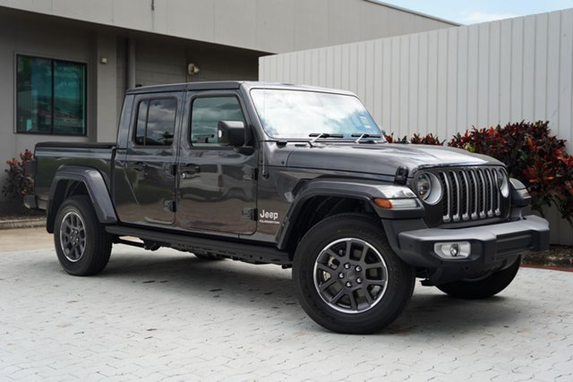 New Jeep Gladiator JT MY21 Overland Pick-up Cairns, 2020 Jeep Gladiator JT MY21 Overland Pick-up Granite Crystal Metallic Clearcoat 8 Speed Automatic