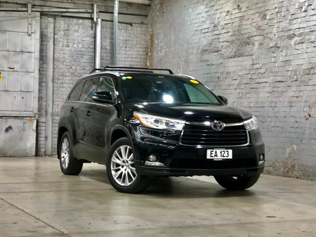 Used Toyota Kluger GSU55R Grande AWD Mile End South, 2015 Toyota Kluger GSU55R Grande AWD Black 6 Speed Sports Automatic Wagon