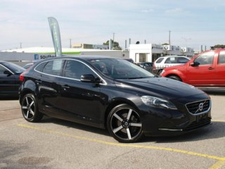 2014 Volvo V40 M Series MY14 T4 Adap Geartronic Luxury Black 6 Speed Sports Automatic Hatchback.