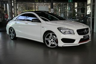 2015 Mercedes-Benz CLA-Class C117 805+055MY CLA250 DCT 4MATIC Sport White 7 Speed.