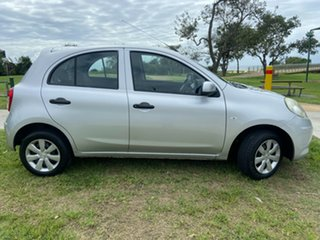 2012 Nissan Micra K13 MY13 ST Silver 4 Speed Automatic Hatchback.
