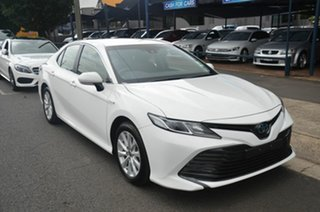 2020 Toyota Camry AXVH71R Ascent (Hybrid) White Continuous Variable Sedan.