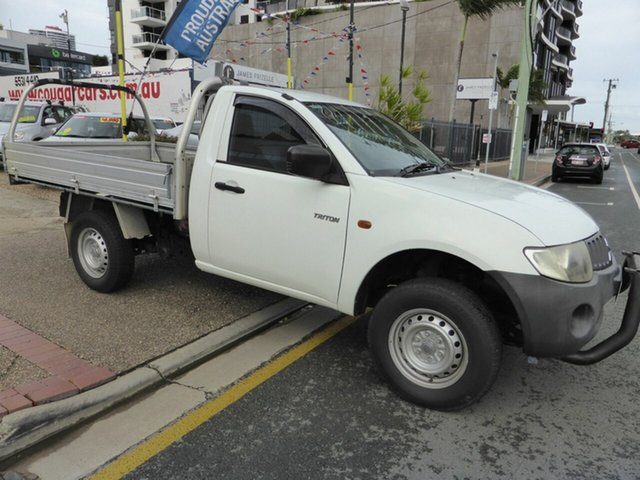 Used Mitsubishi Triton ML MY08 GL Southport, 2008 Mitsubishi Triton ML MY08 GL White 5 Speed Manual Cab Chassis