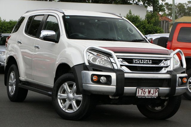 Used Isuzu MU-X MY15 LS-T Rev-Tronic 4x2 Mount Gravatt, 2016 Isuzu MU-X MY15 LS-T Rev-Tronic 4x2 White 5 Speed Sports Automatic Wagon