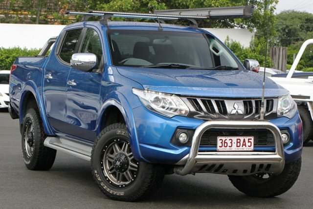 Used Mitsubishi Triton MQ MY17 GLS Double Cab Mount Gravatt, 2017 Mitsubishi Triton MQ MY17 GLS Double Cab Blue 6 Speed Manual Utility