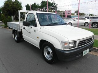 1999 Toyota Hilux RZN147R Workmate White 5 Speed Manual Cab Chassis.