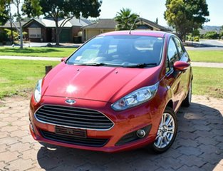 2015 Ford Fiesta WZ MY15 Trend Red 5 Speed Manual Hatchback.