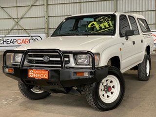 1998 Toyota Hilux LN167R White 5 Speed Manual Utility.