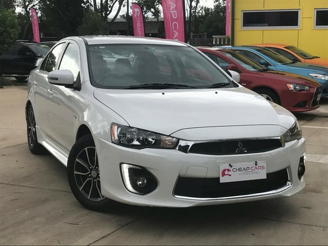 Used Mitsubishi Lancer CJ MY15 ES Sport Toowoomba, 2015 Mitsubishi Lancer CJ MY15 ES Sport White 6 Speed CVT Auto Sequential Sedan