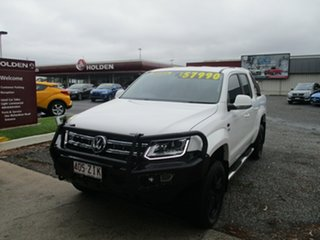 2018 Volkswagen Amarok 2H MY19 TDI550 4MOTION Perm Highline White 8 Speed Automatic Utility.