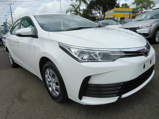 Used Toyota Corolla ZRE172R Ascent S-CVT Mount Gravatt, 2019 Toyota Corolla ZRE172R Ascent S-CVT White 7 Speed Constant Variable Sedan