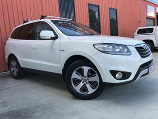 2011 Hyundai Santa Fe CM MY12 Trail White 6 Speed Sports Automatic Wagon.