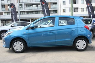 2021 Mitsubishi Mirage LB MY21 ES Cyber Blue Continuous Variable Hatchback