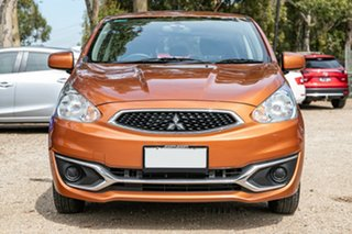 2016 Mitsubishi Mirage LA MY16 ES Brown 1 Speed Constant Variable Hatchback