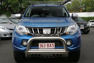 2017 Mitsubishi Triton MQ MY17 GLS Double Cab Blue 6 Speed Manual Utility.