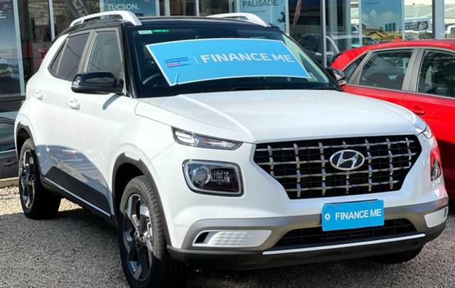 New Hyundai Venue QX.V3 MY21 Elite Totness, 2021 Hyundai Venue QX.V3 MY21 Elite Polar White 6 Speed Automatic Wagon