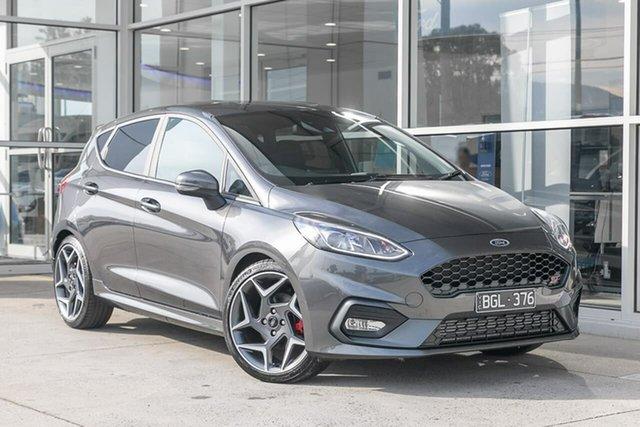 Used Ford Fiesta WG 2020.25MY ST Ferntree Gully, 2019 Ford Fiesta WG 2020.25MY ST Grey 6 Speed Manual Hatchback