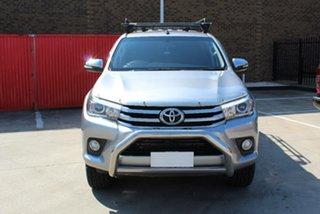 2016 Toyota Hilux GUN126R SR5 (4x4) Silver 6 Speed Automatic Dual Cab Utility.