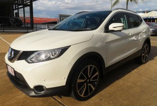 2017 Nissan Qashqai J11 MY18 TI White Continuous Variable Wagon